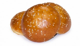 Brioche Hamburg Roll with Sesame Seeds 3""